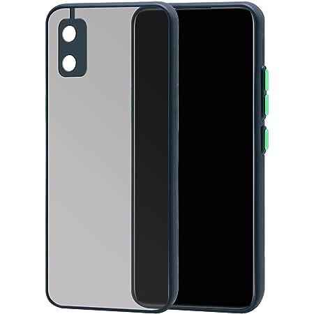 Jkobi Hard Crystal Camera Protection Smoke Back Cover Case for Itel A23 Pro (Blue)