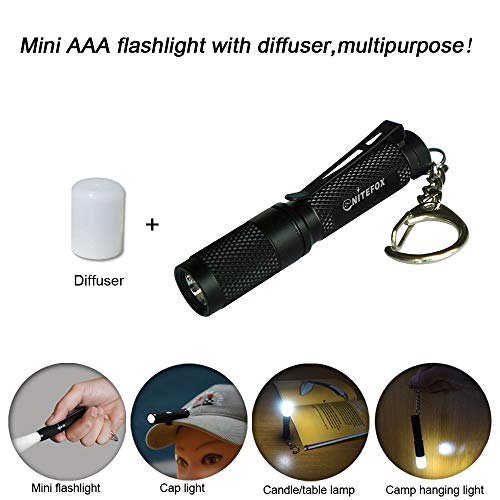 Mini AAA Keychain flashlight K3,high bright 150 lumens 3 levels,as small flashlight caplight camplight tablelight,waterproof torch for EDC,reading,sleep,dog walking,camping,hiking, Emergency