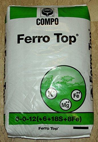 Ferro Top® Concime per tappeti erbosi e piante acidofile ad effetto rinverdente,...