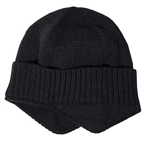 JPYH Sombrero de Invierno Gorros para Hombres de Punto Sombreros cálidos de Invierno Gorro con Orejeras con Forro de Punto Gorro Grueso y cálido para Exteriores