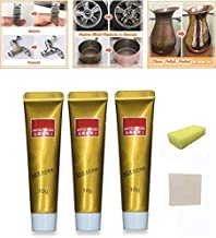 Fixini All Metal Polish Cream, Ultimate Metal Polish Cream with Sponge and Towel, Multifunction Rust Remover for Metal, Stainless Steel/Aluminum/Brass/Copper or Gold Polish Cleaner (3Pcs)