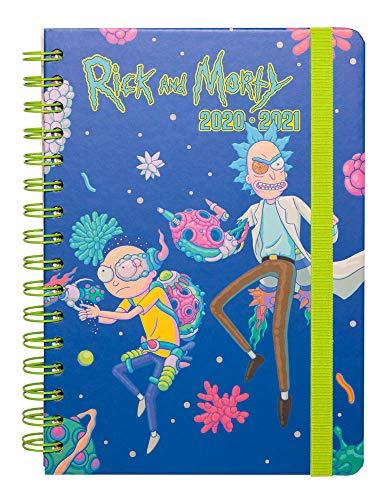 Erik Planer - Schulplaner Rick and Morty - Kalender Wochenansicht 2020/2021 für Schüler 12 Monate - Terminplaner