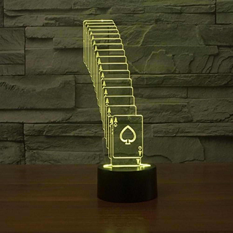 Lozse 3D Nightlights, Gestapelte Poker 3D-Lichter bunte Note wiederaufladbare LED-Lampe visuelle Geschenk Lampe, Bestees Geschenk für Freunde Kinder