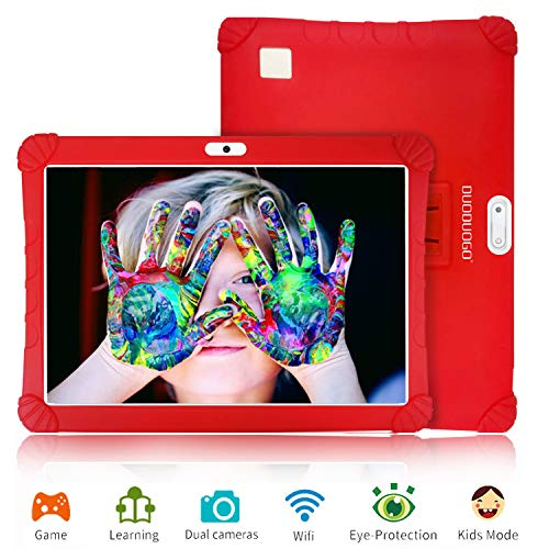 Tablet 10 Pulgadas 3GB de RAM 32GB/128GB de ROM Android 9.0 Certificado por Google GMS 4G Quad Core Full HD Tableta Batería de 8500mAh Dual SIM 8MP Cámara Tablet PC Netflix WiFi Bluetooth OTG(Rojo)