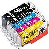 Starink Compatibile per Canon 580 581 XXL PGI-580XXL CLI-581XXL Cartucce d'inchiostro per Canon Pixma TR7550 TR8550 TS6150 TS6151 TS6250 TS6350 TS9550 TS9551C TS705 Stampante 5 pack