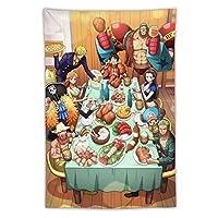 タペストリー ワンピース漫画アニメ寝室タペストリー装飾壁画家族の壁の装飾楽しい子ギフトリビングルームベッドルームソファベッドサイドバックグラウンド布ガウンヨガマット家庭用品 長100*150CM