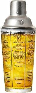 Cocktail Shakers كوكتيل شاكر 350 مل من الزجاج الفولاذ المقاوم للصدأ النبيذ مارتيني بوسطن شاكر خلاط مثالي لخلط مارغريتا، ما...