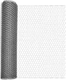 Windhager 06576 Grillage à Poule Hexagonale Gris 0,50 x 10 m