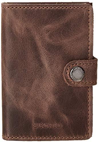 Secrid Vintage Miniwallet Börse mit RFID Schutz 6.5 cm Chocolate