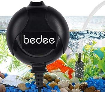 bedee Mini Fish Air Pump for Aquarium Ultra Silent High Energy Saving Quiet Oxygen Air Pump Aquarium for Fish Tank with Air Stone and Silicone Tube