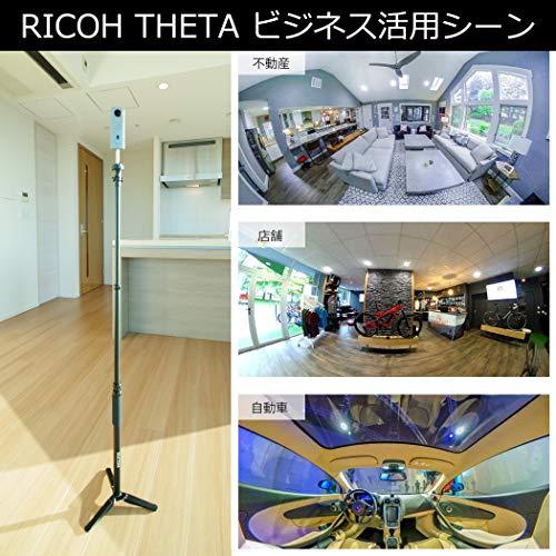 RICOHTHETASC2BLUEブルー360度全天球カメラ360°手振れ補正機能搭載4K動画進化したHDR合成機能(THETASC比2.4倍の処理速度アップ、最新のアルゴリズムにより室内の撮影でよりナチュラルな絵作り)高速WiFi転送精度の高い自然なスティッチング910803