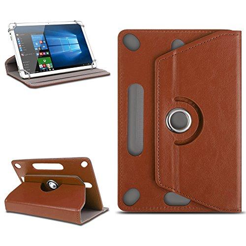 Odys Score Plus 3G Universal Tablet Tasche mit Ständerfunktion Hülle Tablet von NAmobile Schutztasche Schutzhülle Stand Tasche Etui Cover Case hochwertige Optik Farbauswahl 360° drehbar, Farben:Braun
