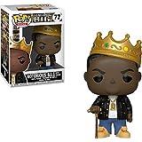 Funko Notorious B.I.G. w/ Crown: Notorious B.I.G. x POP! Rocks Vinyl Figure & 1 POP! Compatible PET Plastic Graphical Protector Bundle [#077 / 31550 - B]
