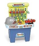 Chicos- Bricco's Junior, Banco de Trabajo de Juguete con Casco y 53 Accesorios más Incluidos, a Partir de 3 Años, Multicolor, Medidas: 44 x 29.5 x 58 cm (12062) , color/modelo surtido
