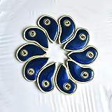 SJJOZZ Campo de Polo Cabeza Sombrero de múltiples Funciones del Hierro del Golf Ball Head Protector de 10 / Set PU Material del Filo de Costura compactos 4 Colores Opcionales (Color : Blue)