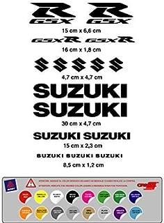 Pegatina Adhesivo Compatible con Suzuki GSX R Vinilo Troquelado 16 Unidades (16 Colores Disponibles)