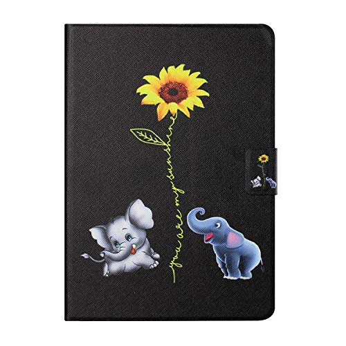 Tedtik for Samsung Galaxy Tab A 10.1' 2019 Case(SM-T510/T515/T517),PU Leather Slim Lightweight Protective Hard Cover - Elephant