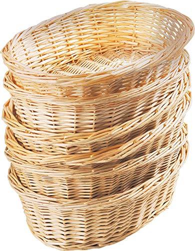 10er Set Weidenkörbchen | Geschenkkorb | Korb geflochten oval, Natur | L 26 cm x B 19 cm x H 9 cm