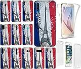 KX-Mobile Hülle für iPhone 6 / 6s Handyhülle Motiv 1178 Paris Eifelturm Frankreich Blau Weiß Rot Premium 360 Grad Fullbody SchutzHülle Softcase HandyCover Handyhülle für iPhone 6 / 6s Hülle