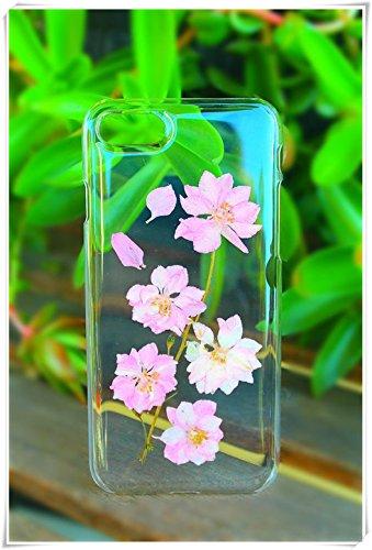One Life ,one jewerly iPhone 7/7s/8, flor de cerezo prensado flores secas funda de plástico duro para teléfono (¿Qué tipo de carcasa de teléfono móvil se necesita? Deja un mensaje).