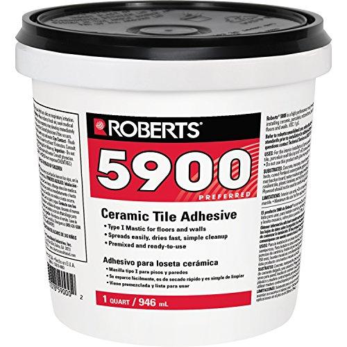 Roberts 5900-0 Ceramic Tile Adhesive, 1 Quart, 32 Fl Oz