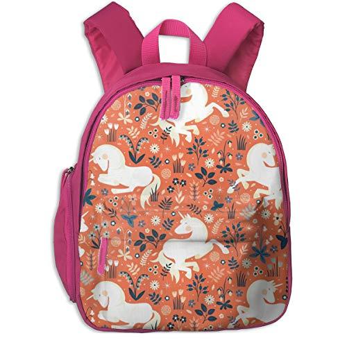 Mochila Infantil niña,New Unicorn Dreams - Tamaño más Grande por Petite_Circus_4341 - Petite_Circus, para escuelas de niños Tela Oxford (Rosa)