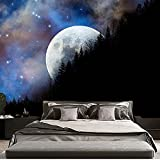 Sternenhimmel Wandteppich Mandala Mond Wandteppich Böhmische Dekorative Spitze Hippie Hexerei Wandteppich A3 180x200cm