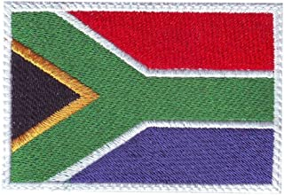 South Africa Flag Embroidered Patch with Velcro® Backing