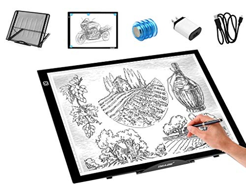Large Version Stand Adjustable Light Box Laptop Stand Multifunction(12 Angles) with A3 Light Box Magnetic LED Tracing Light Pad USB Powered for Artists Drawing Sketching Animation and Diamond Painting