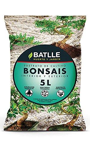 Semillas Batlle 960056BUNID – Substrato per bonsai, 5l, 32 x 37 x 43 cm, colore: marrone chiaro e verde