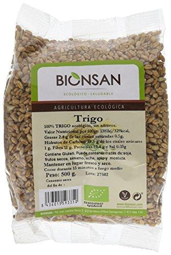 Bionsan Trigo Ecológico en grano - 6 Bolsas de 500 gr - Total: 3000 gr