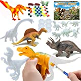 AIVIAI Dinosaur Painting Kit for Kids Painting Dinosaurs Arts & Crafts DIY Dinosaur Toys for 3-12 Year Old Boys Girls Party Favors Supplies, Decorate Your Own Dinosaur Figurines
