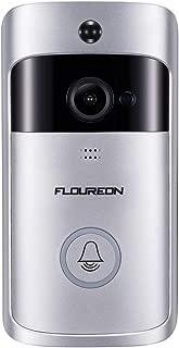 FLOUREON Smart WiFi Doorbell, 720P HD Video Doorbell Camera with PIR Motion Detection, Night Vision, 2-Way Audio Talk, Cloud Storage, SD Card Slot