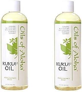 Oils of Aloha Hawaiian Kukui Nut Oil 16 Ounces (Pack of 2)