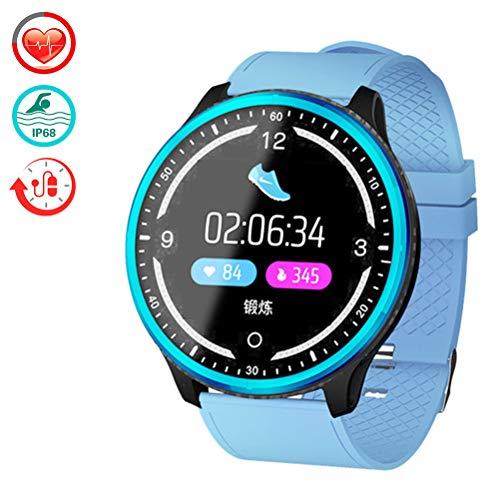 TJW Smartwatch, fitnesstracker, activiteitentracker, hartslagmonitor, IP68, waterdicht met stappenteller, calorieënteller, slanke armband 1,3 inch voor kinderen meisjes