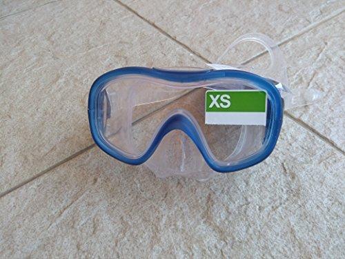 Tribord máscara gafas gafas buceo y snorkel agua sportsall tamaños (luz azul, XS)