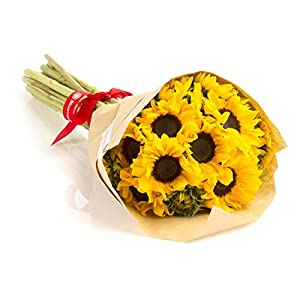 Sunflowers Hand-tied Bouquet- No Vase- Flower Delivery Service Bloomsybox by Bloomsybox