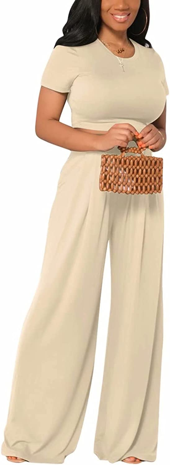 Women 2 Piece Outfit Sets Omaha Mall - Casual Crop Wa Color Tops Direct stock discount Solid High