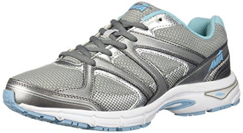 Avia Women's Avi-Execute II Running Shoe, Chrome Silver/Metallic Grey/Topaz Blue, 11 M US