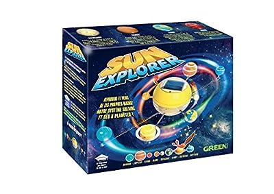 Système solaire Fonctionne à l'énergie solaire Au programme scolaire des classes de CM1 et de CM2 Très agréable à monter et à peindre Système solaire qui fait tourner les planètes dans le sens réel de rotation