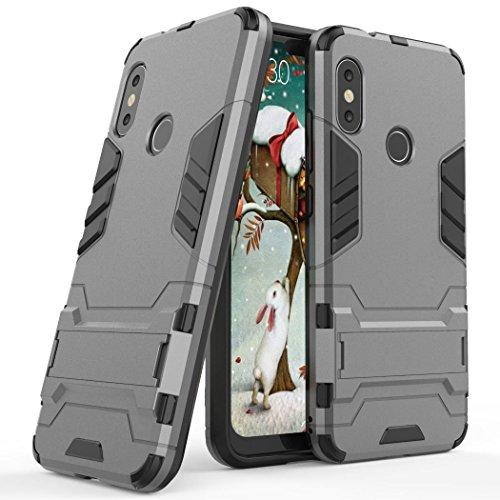 SCIMIN Capa para Xiaomi Mi A2 Lite, Capa híbrida Xiaomi Mi A2 Lite, camada dupla à prova de choque, capa rígida híbrida resistente com suporte para Xiaomi Mi A2 Lite de 5,84 polegadas