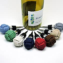 oceanography gifts - nautical wine bottle stopper