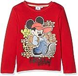Disney Mickey Mouse Woke Up Like This Camiseta, Rosso, 7-8 Años para Niños