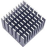 ICONSHOP マルチ ヒートシンク アルミ 正方形 W30mm×D30mm×H20mm 接着シート付属 IC-HSA03
