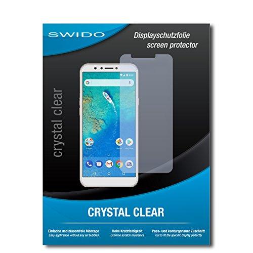 SWIDO Schutzfolie für General Mobile GM 8 [2 Stück] Kristall-Klar, Hoher Festigkeitgrad, Schutz vor Öl, Staub & Kratzer/Glasfolie, Bildschirmschutz, Bildschirmschutzfolie, Panzerglas-Folie