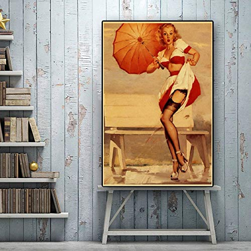 Pinup Poster, Man Cave, Housewarming Gift, Git For Him, Woman's Print, Vintage Woman Poster, Erotic Poster | Poster No Frame Board For Office Decor, Best Gift For Family And Your Friends 11.7*16.5 Inc