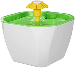 Fashian Pet Fountain, Pet Drinking Fountain Automatic Circulation Electric With Fountain Filters Flower Fountain With Wate...