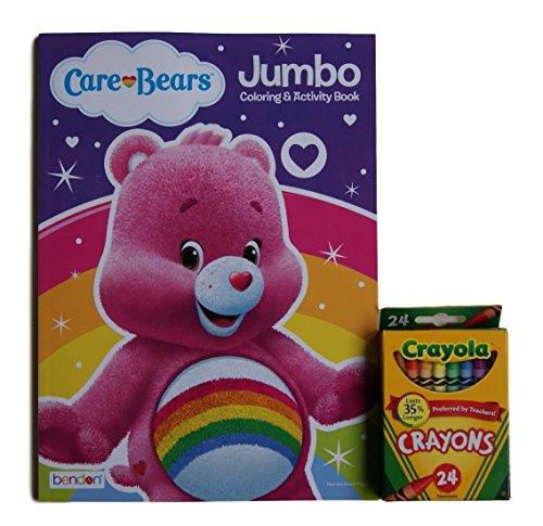 Care Bears ''Cheer Bear'' Jumbo Coloring and Activity Book with Crayola Crayons