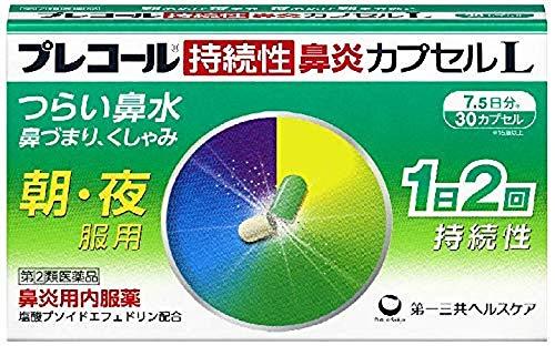 【指定第2類医薬品】プレコール持続性鼻炎カプセルL 30カプセル