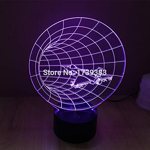 Nur 1 Stück 1 Stück 7 Farbwechsel USB F15 / F16 Flugzeugmodell 3D Acryl LED Nachtlicht leuchtende 3D LED Tischlampe